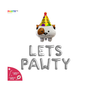 Lets Pawty Balloon Banner