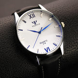YAZOLE Luxury Blue Glass Watch Fashion Men's Watch Waterproof Watch