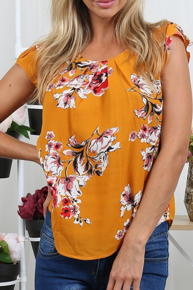 0154 yellow flower top