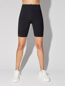 0090 black side mesh Athletic shorts