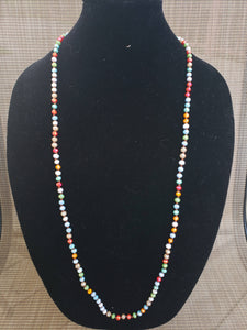 Multi-Color Knotted Necklace-N6-36-0004