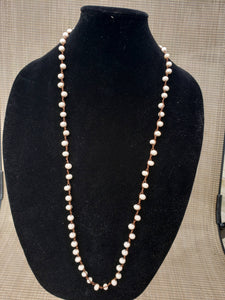 Peach Knotted Necklace-N8-36-0005