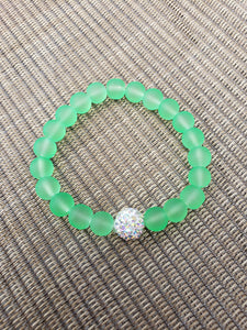Lime Green Mermaid Bracelet-B8-6-0005