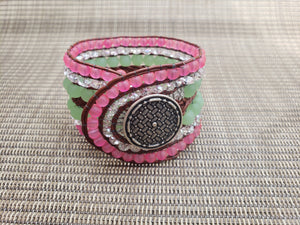 Watermelon Leather Bracelet-BD-650-003