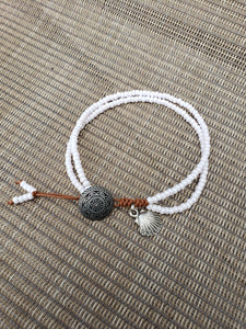 Lustered White Anklet-A8S-775-0001