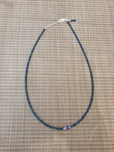 Navy AB Choker with Tye-Dye Accent-NS-15-0009