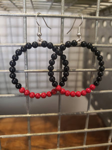 Beaded Hoop Earrings-EH-0002