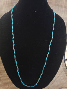 Aqua Knotted Necklace-N6-36-0006