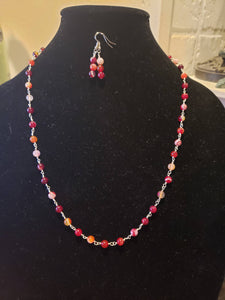 Hand Wrapped Wire and Agate Bead Necklace-N6-25-0001