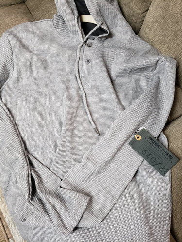M-0005 Gray pullover with hoodie