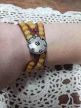 Load image into Gallery viewer, Yellow Agate Leather Apple Watch Band-WB-LB-0002