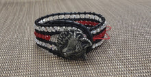 Load image into Gallery viewer, Wolf Leather Bracelet-B4-625-0001