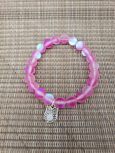 Pink Mermaid Bead Bracelet-B8-6-0003