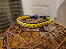 Load image into Gallery viewer, Yellow and Brown Leather Bracelet-BD-L-0003