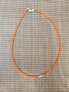 Orange with Sterling Silver Choker-NS-15-0011