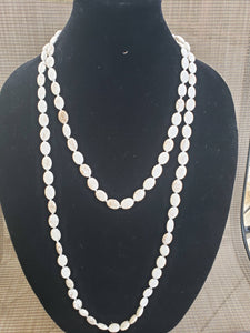 Oval Knotted Necklace-NO-60-0001