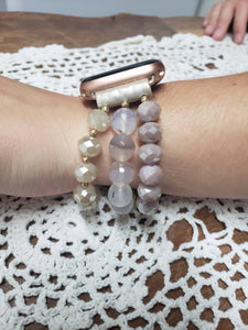Natural Beaded Apple Watch Band-WB-EB-0006