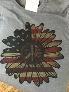 0110 Sunflower American flag design