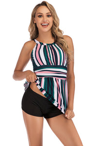SW22 multi Color striped PLUS top