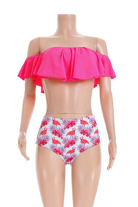 SW56 Flamingo high waisted bottoms