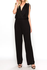 2270 Black V-neck Jumpsuit