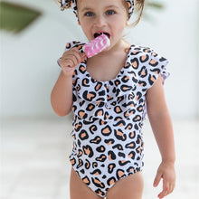 Load image into Gallery viewer, Ksw09 Leopard One Piece Ruffle (KIDS)