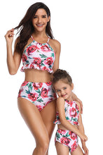 Load image into Gallery viewer, Sw54 High waisted pink floral bottoms (adult)