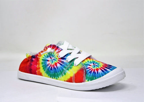 0001 Rainbow Tie Die Shoes