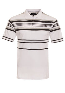 0138 White shirt with gray and black stripes