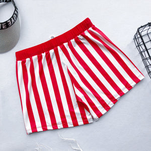 SW57 Red and White striped swim trunks (MENS)