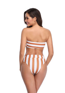 SW41 brown and White Swim Bottom