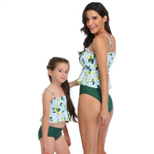 Load image into Gallery viewer, Ksw14 Baby Blue And White Lemon Top With Dark Green Bottoms (KIDS)
