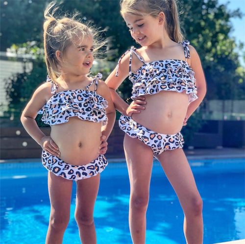 SW19 Kids Leopard Ruffle Top