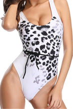 Load image into Gallery viewer, SW61 white and black Cheetah one piece