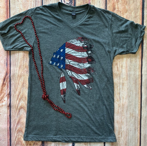 0004 USA Indian Head Graphic Tee