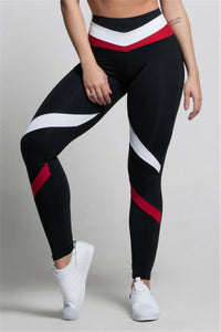 Y-0005 Black, Red, And White Leggings