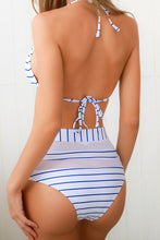 Load image into Gallery viewer, SW10 Royal Blue And White Striped Swim Bottom