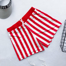 Load image into Gallery viewer, SW57 Red and White striped swim trunks (MENS)