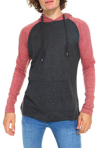 0140 Red and dark gray pullover