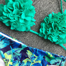 Load image into Gallery viewer, SW5 Blue And Green Floral Swim Bottoms