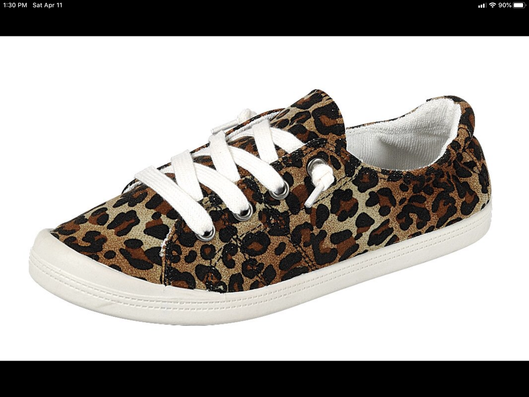 0077 Leopard flat shoes
