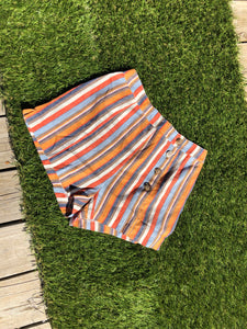 0011 Multi Color Striped Shorts