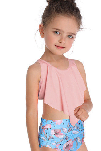 SW52 light blue and light pink flowers bottoms (kids)