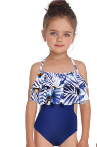 SW49 one piece ruffled coconut swim (Child)
