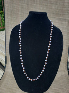 Lilac Opaque Knotted Necklace-N8-36-0009