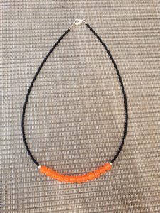 Black Choker with Orange Frosted Accent-NS-16-0003
