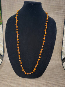 Orange Knotted Necklace-N8-36-0003