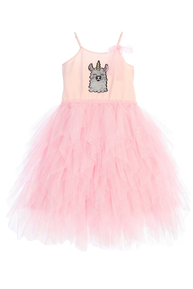 Llama-corn Flip Sequin Tutu Dress