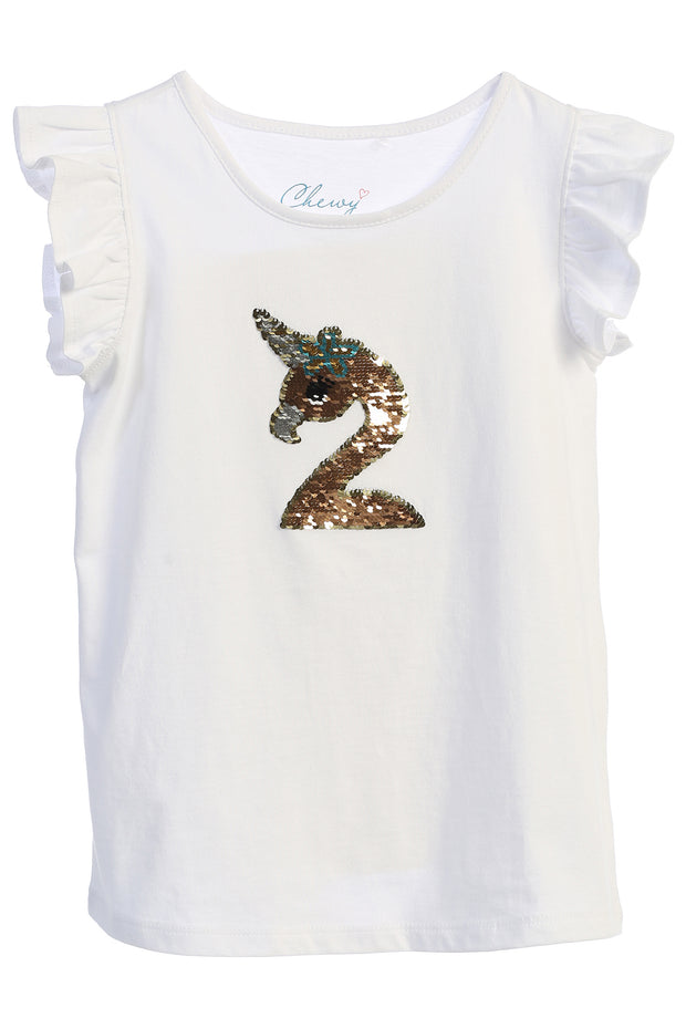 Flamingo-corn Flip Sequin Shirt