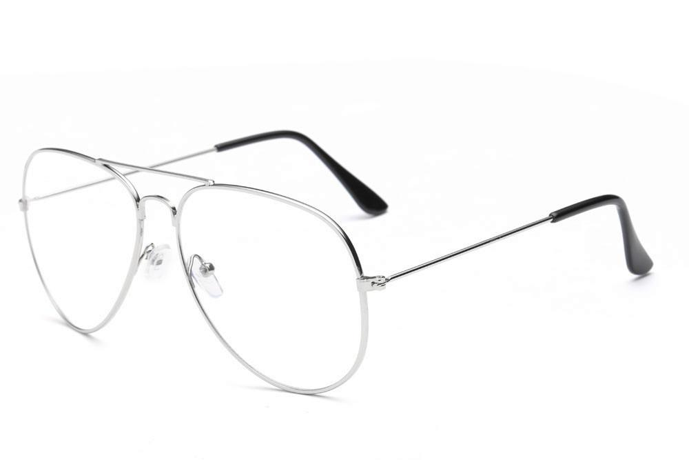 0ee444077 Men Women Clear Lens Glasses Metal Spectacle Frame Myopia Eyeglasses  Lunette Fe. Hover to zoom